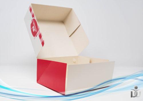 scatola hamburger cerniera aperta